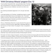 wwi christmas miracle