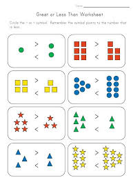 greater than less than worksheet for kindergarten 15 best greater than less than images on teaching math