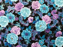 fabric blue purple paisley fabric by the yard quilt fabric apparel