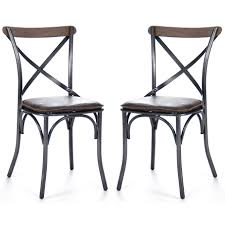 black cafe dining chairs industrial chic