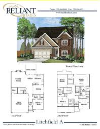 homes for sale with floor plans reliant homes the litchefield a plan floor plans homes