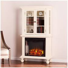 southern enterprises townsend electric fireplace curio antique