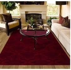 Burgundy Rug Area Rug Carpet Burgundy Red Pattern Lounge Dining Bedroom Living