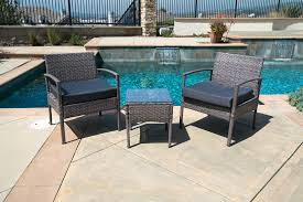 Outside Patio Chairs 3pc Rattan Wicker Bistro Sofa Set Coffee Table Chair Outdoor Patio