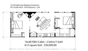 16x40 lofted cabin floor plans homes zone