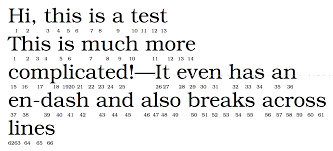 align how to number the letters of a sentence tex latex