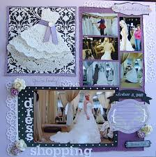 Wedding Scrapbook Page Empty Nest Crafter February 2013