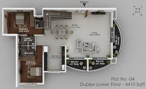 4 Bedroom Duplex Floor Plans Solitaire Luxury Apartments In Hathill Mangalore Landtrades
