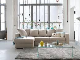canapé d angle moelleux aménager salon avec convivialité grâce au canapé d angle