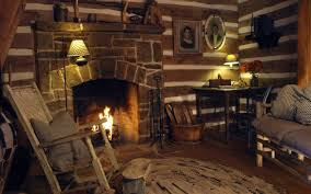 rustic fireplace cozy stovers