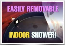 make a removable indoor rv shower stall for your or cer