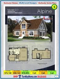 cape cod home floor plans alpine rochester modular home cap cod multi level plan price