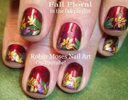 nail art tutorial diy easy fall thanksgiving nails leaves for