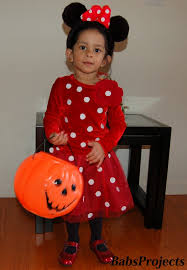Minnie Mouse Halloween Costume Toddler Sew Minnie Mouse Halloween Costume Babs Projects