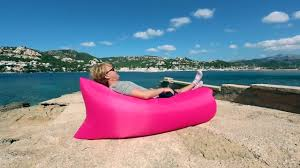 Beach Lounger Fast Inflatable Lounger Air Sleep Camping Sofa Youtube