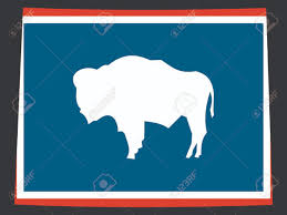 Us Flag 1860 Map Of The State Of Wyoming And American Flag Royalty Free