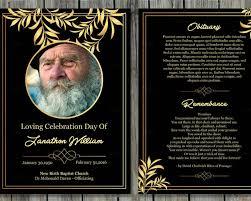 printable funeral card templates free word pdf psd creative