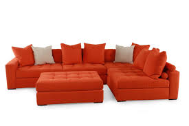 Mathis Brothers Sectional Sofas Jonathan Louis Noah Orange Sectional Mathis Brothers Furniture