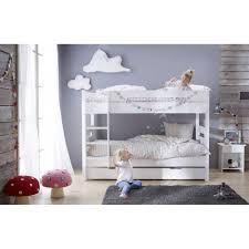 chambre enfant lit superposé lit superposé avec sommiers blanc 90x190 tomablcm01