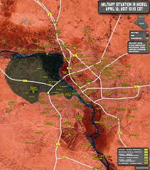 Baghdad Map Situation In Iraqi City Of Mosul On April 12 2017 Map Update