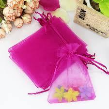 pink organza bags 100pcs lot 11x16cm fuchsia organza bags christmas wedding favor