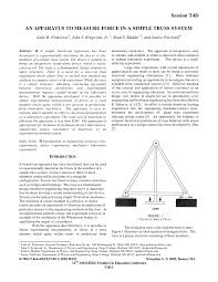 an apparatus to measure force in a simple truss system pdf
