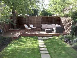 garden and patio backyard landsping house design with concrete