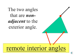 Adjacent Interior Angles Triangle Inequalities Objectives 1 Discover Inequalities Among