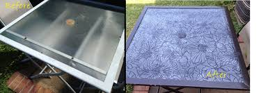 Glass Patio Table Top Refresh Renew Restyle Decoupage Glass Tabletop