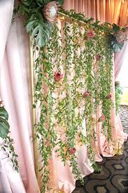 Curtain Fairy Lights by Lana Designed This Ceremony Structure With King Protea And Ruscus