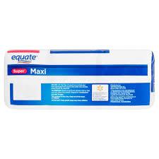 Pillow Top Mattress Pad Walmart Equate Super Multi Channel Maxi Pads 48ct Walmart Com