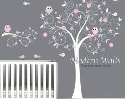 stickers arbre chambre bébé stickers autocollants vinyle wall decal arbre branche hiboux