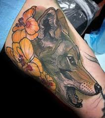 nice flower amazing coyote tattoos golfian com