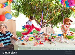 birthday decoration at home for kids boys girls children having fun enjoying stock photo 330859697