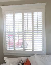 simple and elegant plantation shutters are the perfect fit for