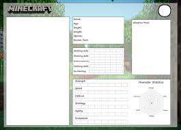 minecraft reference sheet template by cobaltglacier on deviantart