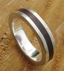 silver wood rings images Wooden inlay sterling silver ring love2have in the uk jpg