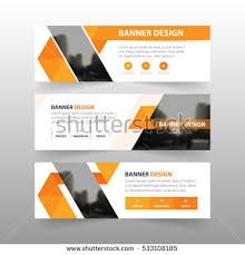layout banner design orange abstract triangle corporate business banner stock photo