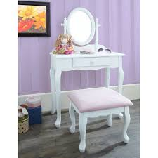 kidkraft princess table stool pretty white and pink vanity for things i want for baby