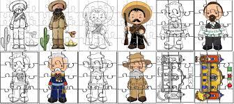 imagenes de la revolucion mexicana en preescolar fantásticos rompecabezas de personajes de la revolución mexicana