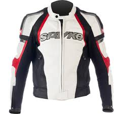red and black motorcycle jacket spyke top sport gp leather motorcycle jackets for men