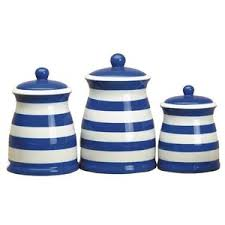 blue kitchen canisters kitchen canisters with polka dots and stripes polyvore