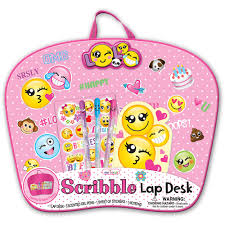 Kids Lap Desk For Car by Focus Scribble Lap Desk Emoji Walmart Com