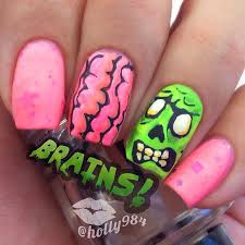 35 creepy and cute halloween nail art ideas highpe