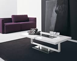 modern living room table amazing purple sofa plus black area rug mixed with modern white