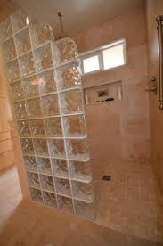 walk in shower half wall glass block google search mom and dad