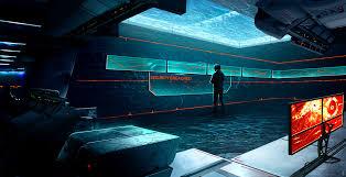 cyberpunk wallpaper dr rem u0027s secret lab control room by