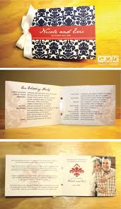 print wedding programs peace design modern damask print wedding program booklet in
