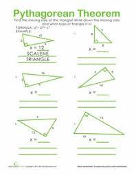 math worksheets pythagorean theorem free worksheets library