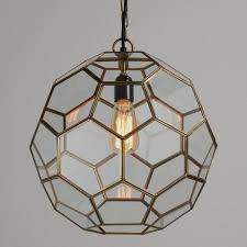 world market pendant light faceted glass paxton pendant world market